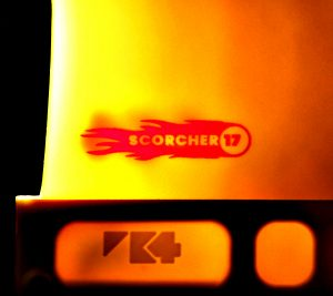 K4 Fins Scorcher red hot